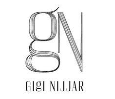 Logo for the über-talented hair, makeup and wardrobe stylist Gigi Nijjar. by Harjeet Gill, on Behance.