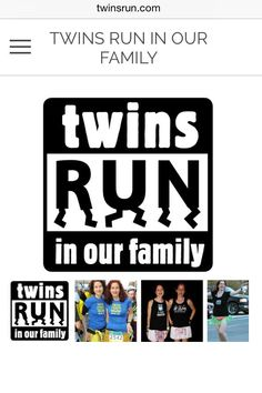 Thanks to @LeahCville, @TwinsRun has a new website! http://www.twinsrun.com