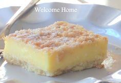 Welcome Home Blog: My Mom's Famous Lemon Bars
