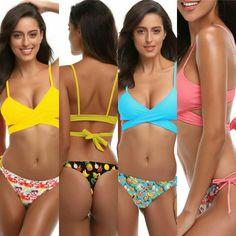 Bikinis, Swimwear, Sexy Bikini, Push Up, Fashion, Unitards, The Beach, Crosses, Bikini