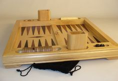 Cool Wood Table Top Backgammon set, FREE Ground Shipping in time for gift-giving!  #tabletopbackgammonsets