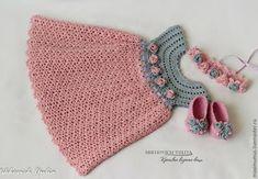 Croche e Pontos: Vestido Infantil passo a passo 18/5/16