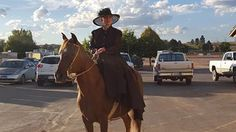 Beautiful side saddle picture of LEA Tucumcari, a 17 year old Peruvian gelding and Veronica Underwood of Colorado