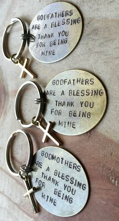 Personalized Godparent Keychains These keychains come in a set of ...