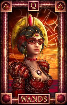 - Tarot of Dreams -Queen of Wands #CiroMarchetti