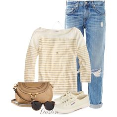 """""""fall stripes"""" by stacy-gustin on Polyvore"""
