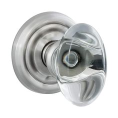 Miseno V-43 Glass Egg Privacy Door Knob from the Mera Collection