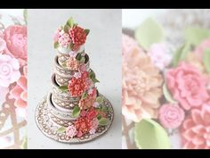 Video Release: How to Make 3-D Contoured Wedding Cake Cookies (Part 2 - Assembly) | By Julia M Usher | Recipes for a Sweet Life