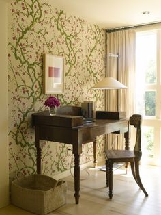 Brighten any room with an accent wall. eclectic home office by Dufner Heighes Inc Home Office Design, Home Office Decor, Diy Home Decor, Office Designs, Office Ideas, Desk Areas, Interior Decorating, Interior Design, Eclectic Design
