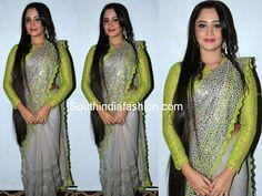 Aliya Hasan in Grey Net Saree ~ Celebrity Sarees, Designer Sarees, Bridal Sarees, Latest Blouse Designs 2014