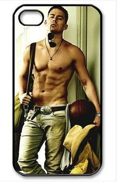 Personalized iPhone 4 case iPhone 4s case - Channing Tatum shirtless -plastic Iphone cover iphone 4s cover. $8.99, via Etsy.
