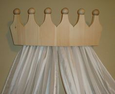 Princess Bed Crown Valance / Canopy / Cornice for Girls by decarlo, $95.00