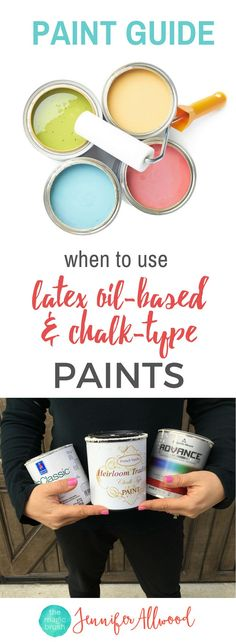 What Kind of Paint to use | Chalk paint vs Latex Paint vs Oil-based Paints | Learn what surfaces to which paints on, the pros and cons of each kind of paint | What kind of Paint to use on Kitchen Cabinets and Furniture | Free Paint Guide by theMagicBrushinc.com