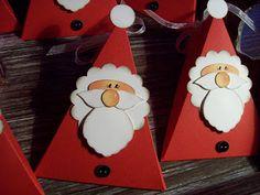 Kreativ am Deich : Weihnachtsmann-Dreiecks-Schachteln ...
