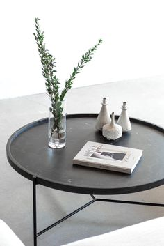 "40""D + 17.5""H INDUSTRIAL STEEL + NERO MARQUINA MARBLE POLY + HONED FINISH //CUSTOMIZE THIS PIECE This Coffee Table is Custom Made in Los Angeles. The base is"