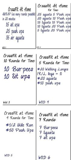 6 Crossfit workouts when you're at home or traveling by alisa