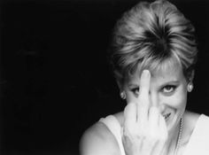 Princess Diana.  If anyone ever had a right to flick the bird, it's this girl!