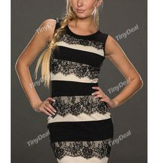 Evening/Party Fiber Striped Feminine Elegant Crewneck Mini Sleeveless Dresses for Women Girl Ladies DCD-307172 http://www.tinydeal.com/fr/striped-feminin-px250pz-p-127431.html