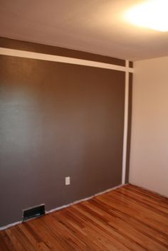 brown/white accent wall