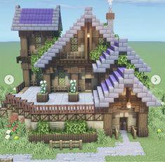 Big Minecraft Houses, Minecraft House Plans, Minecraft Cottage, Minecraft House Designs, Minecraft Blueprints, Minecraft Buildings, Minecraft Templates, Minecraft Images, Minecraft Funny