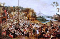 The Dance around the May Pole Pieter Bruegel - The younger 1565 – 10 October 1636 Flemish painter