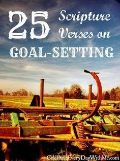 25 Scripture Verses on Setting & Working Toward Your Goals setting goals, goal setting #goals #motivation