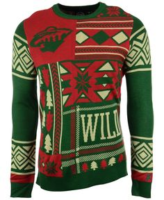 Forever Collectibles Men s Minnesota Wild Patches Christmas Sweater Men -  Sports Fan Shop By Lids - Macy s c7c09eece