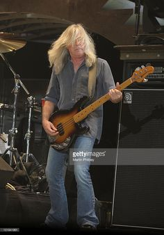 Cliff Williams of ACDC performs on stage at Docklands (Etihad) Stadium on 11th February 2010 in Melbourne, Australia.