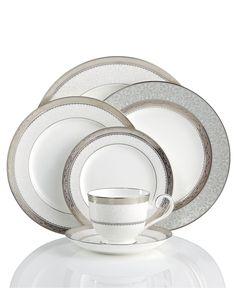 Noritake Dinnerware, Odessa Platinum Collection - Fine China - Dining & Entertaining - Macys
