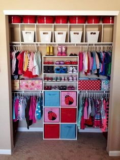 65 Clever Kids Bedroom Organization and Tips Ideas Keeping the toys, . 65 Clever Kids Be Toddler Closet Organization, Kids Bedroom Organization, Closet Storage, Bedroom Storage, Organization Ideas, Storage Ideas, Toy Storage, Clothing Organization, Kids Storage
