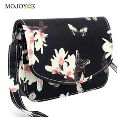 f230ec826785  Visit to Buy  Fashion Floral Print Women Bag Crossbody Women Messenger Bags  PU Leather