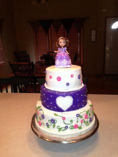 Sofia the First cake. No fondant