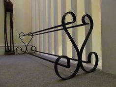 wrought iron shoe rack
