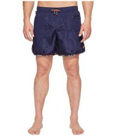 Missoni Mare Plain Nylon Swim Trunks (Blue) Men's Swimwear