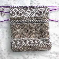 Image result for fair isle mittens pattern free