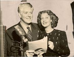 "Launch ""Lux Radio Theater"" 10th Anniversary: Nelson Eddy and Jeanette MacDonald are the stars of ""Maytime"", to be presented by Cecil B. DeMille on ""Lux Radio Theater"" Monday, Sept. 4, 1944 when the program returns to CBS after an 8 week hiatus for its 10th Anniversary season. - Photo from the Escano Collection"