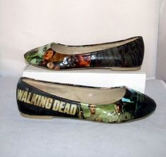 The Walking Dead Zombie Flats Featuring Daryl Dixon (Norman Reedus) - Made to Order  Gorgeous!!!