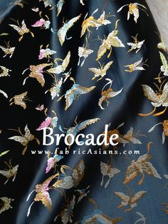 Gorgeous Butterfly brocade. Chinese Brocades by fabricAsians on Etsy