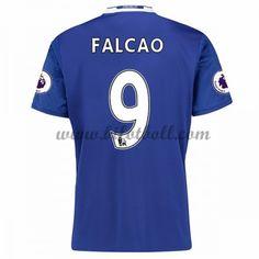Billiga Fotbollströjor Chelsea 2016-17 Falcao 9 Kortärmad Hemmatröja