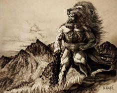 Η ΑΠΟΚΑΛΥΨΗ ΤΟΥ ΕΝΑΤΟΥ ΚΥΜΑΤΟΣ: Η Ρ Α Κ Λ Η Σ    Δ ύ ν α μ η  Π υ ρ ό ς  Θεών και ... Lion Sculpture, Statue, Sculptures, Sculpture