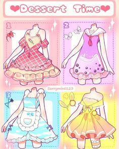 Manga Clothes, Drawing Anime Clothes, Kawaii Clothes, Cartoon Outfits, Anime Outfits, Mode Outfits, Cute Art Styles, Cartoon Art Styles, Fashion Design Drawings