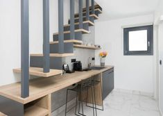 projects | mobel: Η πολυτέλεια που σου αξίζει Stairs, Wood, Kitchen, Table, Projects, Furniture, Home Decor, Log Projects, Stairway