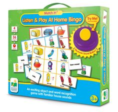 Make learning to read fun and entertaining with The Learning Journey Match It! Listen & Play Bingo - Home . Ideal for young readers, this bingo set. Bingo Set, Bingo Games, Word Games, Free Games For Kids, Interactive Learning, Learning Toys, Kids Board, Picture Cards, Games To Play