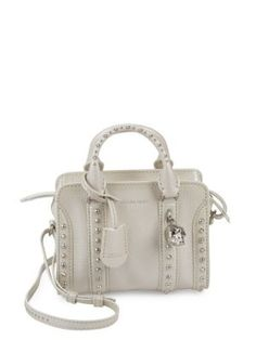 ALEXANDER MCQUEEN Studded Leather Crossbody Tote. #alexandermcqueen #bags #shoulder bags #hand bags #leather #crossbody #