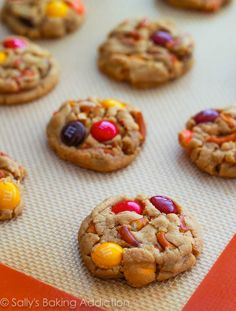 Load peanut butter cookies with M&Ms and crumbled pretzels for a sweet and salty treat.