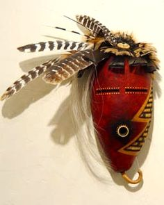 "*Gourd Art - ""Mask"" by Bonnie Gibson"