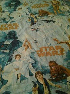 Vintage Star Wars Twin Flat  Sheet Bedding Awesome #StarWars