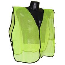 Non rated safety vest,hook and loop closure with no reflective tape. Universal size in Hi-Viz green.Vest is made from high quality polyester mesh and equiped with durable elastic straps. Green Vest, Safety, Mesh, Unisex, Tape, Gender, Closure, Group, Products