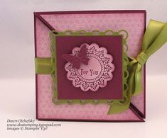 Pretty triangle trifold card... love the way this opens up!
