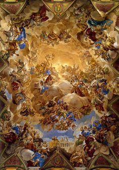 Monasterio de El Escorial, España. Fresco.